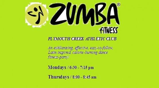 ZUMBA at Plymouth Creek Athletic Club